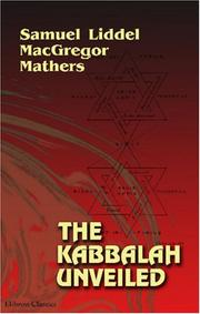 Cover of: The Kabbalah Unveiled