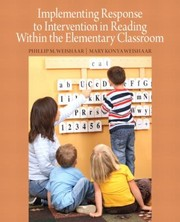 Cover of: Implementing Response To Intervention In Reading Within The Elementary Classroom