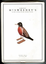Cover of: Mcsweeneys Issue 4