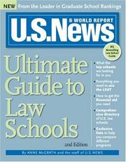 Cover of: U.S. News Ultimate Guide to Law Schools 2E (U.S. News Ultimate Guide to Law Schools) | Anne McGrath