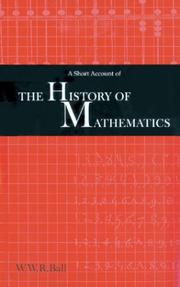 Cover of: A short account of the history of mathematics