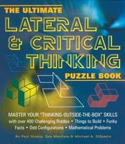 "Cover of: The Ultimate Lateral & Critical Thinking Puzzle Book: Master Your ""Thinking-Outside-The-Box"" Skills (Puzzle Books)"