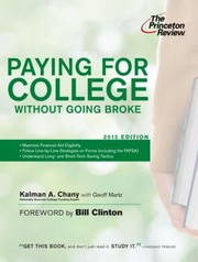 Cover of: Paying For College Without Going Broke
