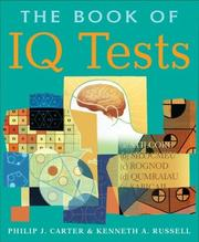 Cover of: The Book of IQ Tests | Philip J. Carter