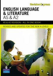 Cover of: As And A2 English Language And Literature