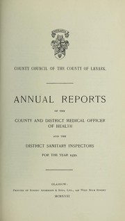 Cover of: [Report 1930] | Lanarkshire (Scotland). County Council