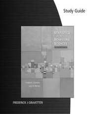 Cover of: Study Guide Statistics For The Behavioral Sciences Eighth Edition By Frederick J Gravetter Larry B Wallnau