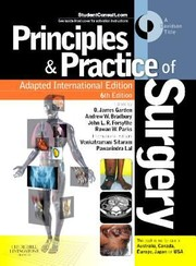 Cover of: Principles Practice Of Surgery