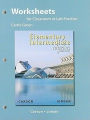 Cover of: Elementary and Intermediate Algebra Worksheets for Classroom or Lab Practice