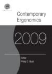 Cover of: Contemporary Ergonomics 2009 Proceedings Of The International Conference On Contemporary Ergonomics 2009