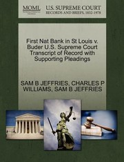 Cover of: First Nat Bank In St Louis