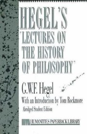 Cover of: Hegels LecturesHistory Philosophy
