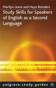 Cover of: Study Skills for Speakers of English as a Second Language (Palgrave Study Guides) | Marilyn Lewis