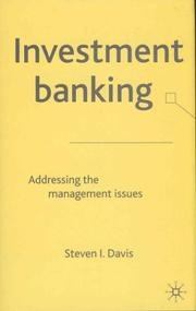 Cover of: Investment Banking