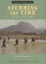 Cover of: Combat Operations Stemming The Tide May 1965 To October 1966