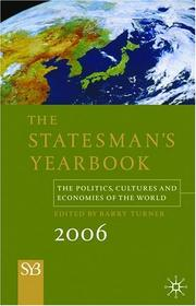 Cover of: Statesman's Yearbook 2006, 142nd Edition | Barry Turner
