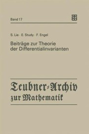 Cover of: Beitrge Zur Theorie Der Differentialinvarianten