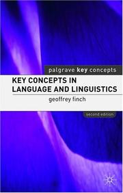 Cover of: Key Concepts in Language and Linguistics