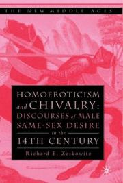 Cover of: Homoeroticism and Chivalry | Richard E. Zeikowitz