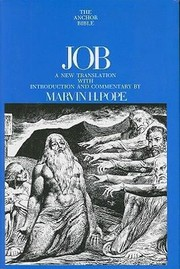 Cover of: Job A New Translation With Introduction And Commentary