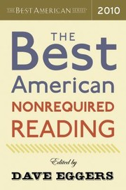 Cover of: The Best American Nonrequired Reading 2010