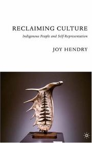 Cover of: Reclaiming Culture | Joy Hendry
