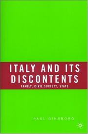 Cover of: Italy and its discontents