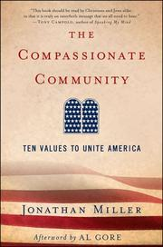Cover of: The Compassionate Community | Jonathan Miller