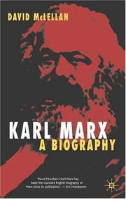 Cover of: Karl Marx | David McLellan