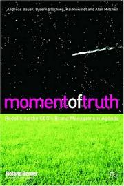 Cover of: Moment of Truth | Andreas Bauer