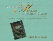 Cover of: Anthology Of Scores To A History Of Music In Western Culture