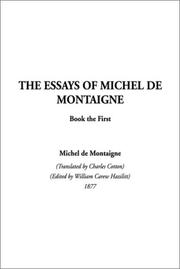 Cover of: The Essays of Montaigne, Book 1 (Essays of Montaigne)