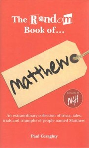Cover of: The Random Book Of Matthew
