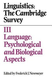 Cover of: Linguistics The Cambridge Survey