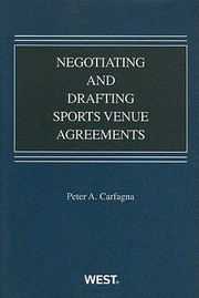 Cover of: Negotiating And Drafting Sports Venue Agreements