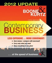 Cover of: Contemporary Business 2012 Update Binder Ready Version