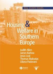 Cover of: Housing and Welfare in Southern Europe | James Barlow