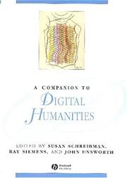 Cover of: A companion to digital humanities |