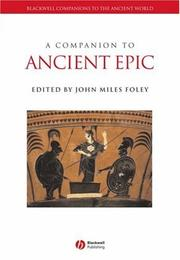 Cover of: A companion to ancient epic