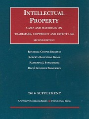 Cover of: Intellectual Property Cases And Materials On Trademark Copyright And Patent Law 2010 Supplement
