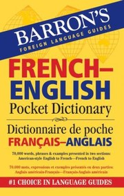 Cover of: Frenchenglish Pocket Dictionary Dictionnaire De Poche Franaisanglais |