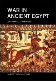 Cover of: War in Ancient Egypt | Anthony John Spalinger