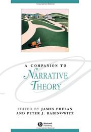 Cover of: A companion to narrative theory |