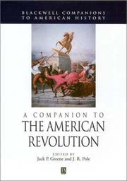 Cover of: A Companion to the American Revolution | J. R. Pole