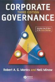 Cover of: Corporate governance by