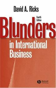 Blunders in international business by David A. Ricks