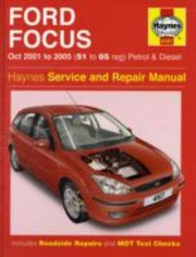 Cover of: Ford Focus Petrol Diesel Service Repair Manual 2001 To 2005