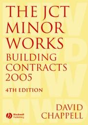 Cover of: JCT Minor Works Building Contracts 2005
