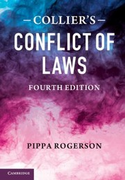 Cover of: Colliers Conflict Of Laws