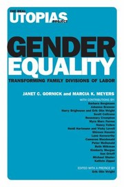 Cover of: Gender Equality Transforming Family Divisions Of Labor